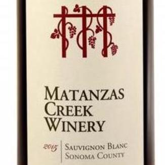 Matanzas Creek Winery 2015 Sonoma County Sauvignon Blanc 750ml Wine Bottle