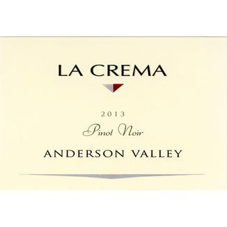 La Crema Winery 2013 Anderson Valley Pinot Noir 750ml Wine Label