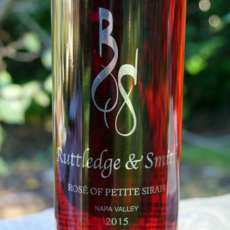 Ruttledge & Smith 2015 Napa Valley Rose of Petite Sirah 750ml Wine Label