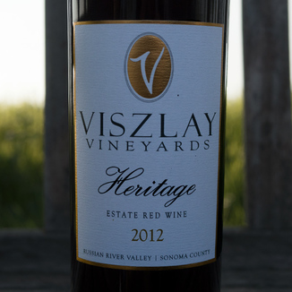 Viszlay Vineyards 2012 Heritage Estate Red Wine 750ml Wine Label