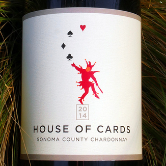 House of Cards 2014 House of Cards Sonoma County Chardonnay 750ml Wine Label