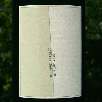Straight Line Wines 2015 Lodi Zinfandel 750ml Wine Label