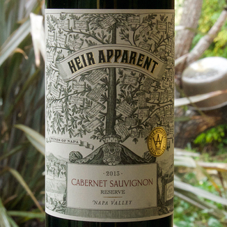 "Grand Napa 2013 ""Heir Apparent"" Napa Valley Reserve Cabernet Sauvignon 750ml Wine Label"