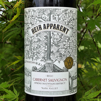"Grand Napa Wine 2014 ""Heir Apparent"" Spring Mountain District Napa Valley Cabernet Sauvignon 750ml Wine Bottle"