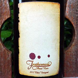 Furthermore Wines 2013 Eden Vineyard Pinot Noir 750ml Wine Label