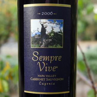 """Romeo Vineyards 2006 Sempre Vive """"Eugenia"""" Napa Valley Cabernet Sauvignon 750ml Wine Label"""