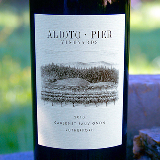 Alioto Pier Vineyards 2010 Rutherford Cabernet Sauvignon 750ml Wine Bottle