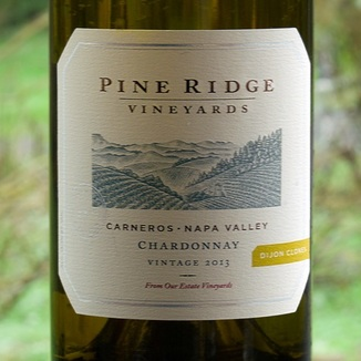 Pine Ridge Vineyards 2013 Carneros, Napa Valley, Dijon Clone Chardonnay 750ml Wine Bottle