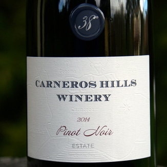 Carneros Hills 2014 Estate Pinot Noir 750ml Wine Label