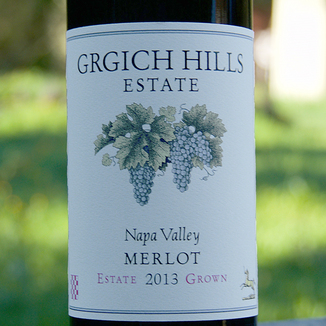Grgich Hills Estate 2013 Estate Grown Napa Valley Merlot 750ml Wine Label