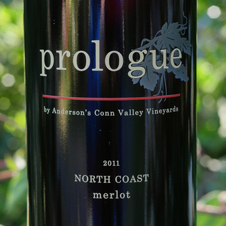 "Anderson's Conn Valley Vineyards 2011 ""Prologue"" North Coast Merlot 750ml Wine Label"