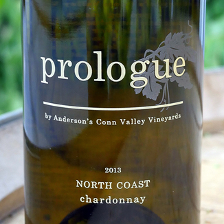 "Anderson's Conn Valley Vineyards 2013 ""Prologue"" North Coast Chardonnay 750ml Wine Label"