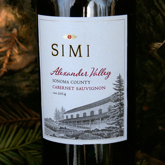 SIMI Winery 2014 Alexander Valley Cabernet Sauvignon 750ml Wine Label
