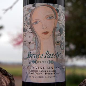 Bruce Patch Wines 2013 Carreras Ranch vineyard Dry Creek Valley Old Vine Zinfandel 750ml Wine Bottle