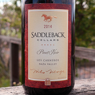 Saddleback Cellars 2014 Napa Valley Pinot Noir 750ml Wine Label