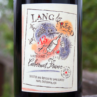 Lang & Reed 2013 North Coast Cabernet Franc 750ml Wine Label