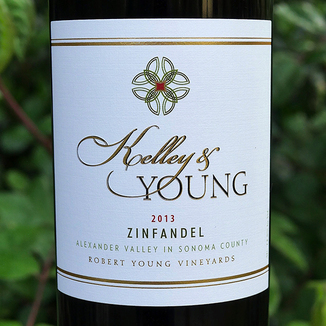 Kelley & Young Wines 2013 Robert Young Vineyard Alexander Valley Zinfandel 750ml Wine Label