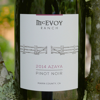 McEvoy Ranch 2014 Azaya Vineyard Pinot Noir 750ml Wine Label