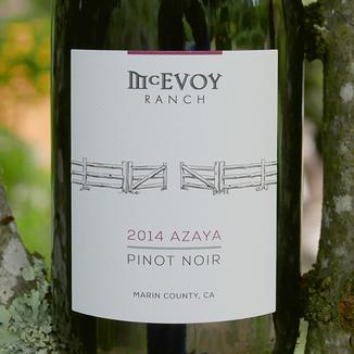 McEvoy Ranch 2014 Azaya Vineyard Pinot Noir 750ml Wine Label