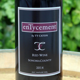 Ty Caton Vineyards 2014 Sonoma County enTycement Red Wine 750ml Wine Label