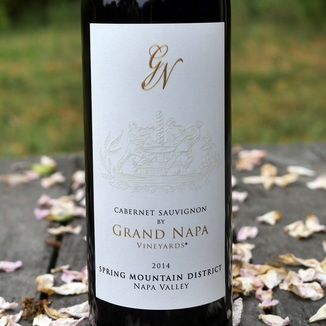 Grand Napa Wine 2014 Spring Mountain Cabernet Sauvignon 750ml Wine Label