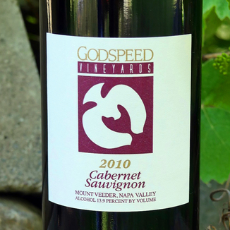 Godspeed Vineyards 2010 Mt. Veeder Napa Valley Cabernet Sauvignon 750ml Wine Bottle
