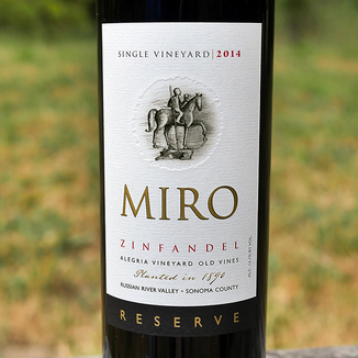 Miro Cellars 2014 Allegria Vineyard Old Vine Russian River Valley Zinfandel 750ml Wine Label