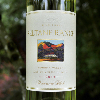 "Beltane Ranch 2014 ""Drummond Block"" Sonoma Valley Sauvignon Blanc 750ml Wine Bottle"