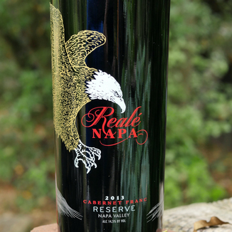 "Grand Napa Wine 2013 ""Reale' Napa"" Reserve Cabernet Franc 750ml Wine Bottle"