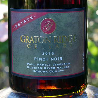 Graton Ridge Cellars 2013 Paul Family Vineyard Russian River Valley Pinot Noir 750ml Wine Label