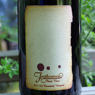 Furthermore Wines 2013 La Encantada Vineyard Sta. Rita Hills Pinot Noir 750ml Wine Label