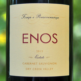 Enos Vineyards 2013 Estate Dry Creek Valley Cabernet Sauvignon 750ml Wine Label