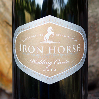 Iron Horse Vineyards 2012 Wedding Cuvee 750ml Wine Label