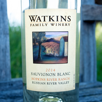 Watkins Family Winery 2014 Hopkins River Ranch Russian River Valley Sauvignon Blanc 750ml Wine Label