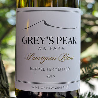 "Greystone Wines 2016 ""Grey's Peak"" Barrel Fermented Sauvignon Blanc 750ml Wine Label"