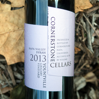 Cornerstone Cellars 2013 Grigsby Vineyard Yountville Syrah 750ml Wine Label