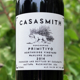 "Charles Smith Wines 2014 ""Casa Smith"" Porcospino Northridge Vineyard Wahluke Slope Primitivo 750ml Wine Label"