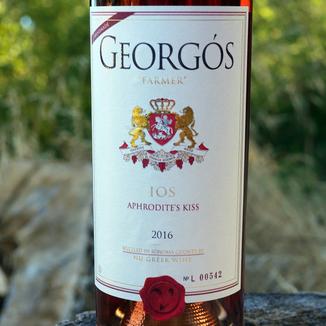 """Georgos Wines 2016 """"Aphrodite's Kiss"""" Agiorgitiko Rose' 750ml Wine Label"""