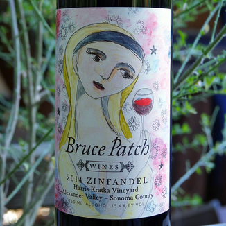 Bruce Patch Wines 2014 Harris Kratka Vineyard Alexander Valley Zinfandel 750ml Wine Label