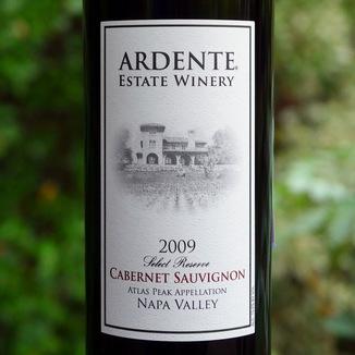 Ardente Estate 2009 Select Reserve Atlas Peak Cabernet Sauvignon 750ml Wine Bottle