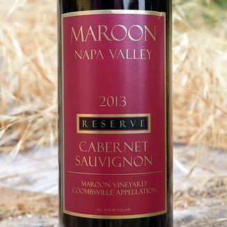 Maroon Wines 2013 Reserve Coombsville Cabernet Sauvignon 750ml Wine Bottle
