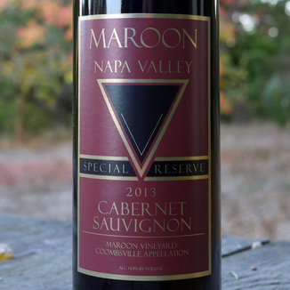Maroon Wines 2013 Special Reserve Coombsville Cabernet Sauvignon 750ml Wine Label