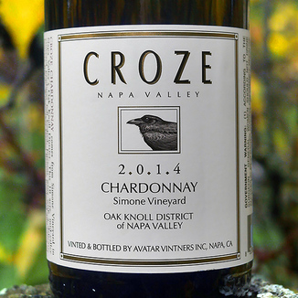 Croze 2014 Simone Vineyard Napa Valley Chardonnay 750ml Wine Label
