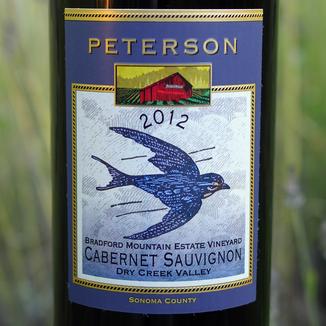 Peterson Winery 2012 Bradford Mtn. Vineyard Cabernet Sauvignon 750ml Wine Bottle