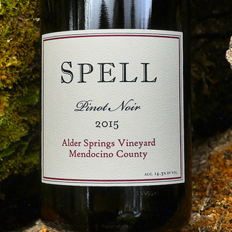 Spell Estate 2015 Alder Springs Vineyard Mendocino County Pinot Noir 750ml Wine Bottle