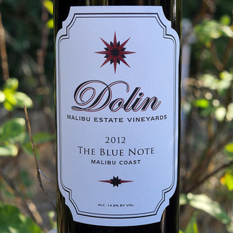 Dolin Malibu Estate Vineyards 2012 Malibu Coast The Blue Note Red Blend 750ml Wine Label
