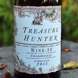 Kitfox Vineyards 2015 Treasure Hunter Columbia Valley Wine:30 Chardonnay 750ml Wine Label