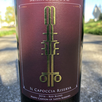 Martellotto Wines 2016 Happy Canyon of Santa Barbara Il Capoccia Riserva Red Blend 750ml Wine Label
