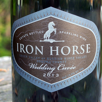 Iron Horse Vineyards 2013 Wedding Cuvee 750ml Wine Label