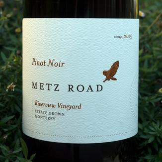 Metz Road 2015 Estate Grown Monterey Riverview Vineyard Pinot Noir 750ml Wine Label